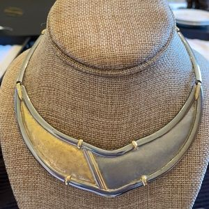 18K Yellow Gold  Stainless Steel Necklace